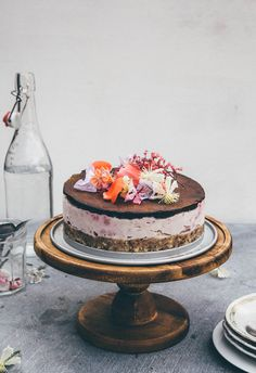 Frozen mainly raw choco & raspbery cheese cake - For someone special! — Nourish Atelier