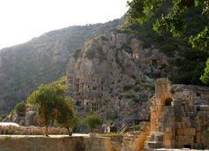Lycian tombs, Myra ruins, Turkey