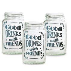 Set 3 Vasos Frascos Good Drinks