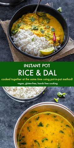 Make India's ultimate comfort food – rice and dal together at the same time in the Instant Pot!The recipe uses pot in pot method which cooks both rice and dal together in one go. #instantpotriceanddal #instantpot #dal