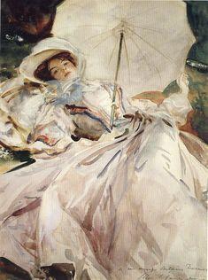 Дама с зонтиком,1900, John Singer Sargen