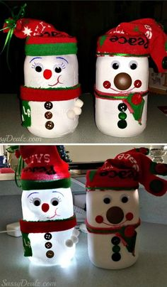 DIY Snowman Mason Jar Light