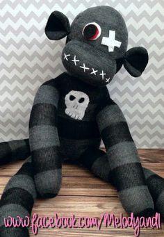Skulls sock monkey
