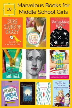10 Marvelous Books for Middle School Girls  That 12 – 14 range can be a tricky one as far as finding great books for your kids.   Jennifer Donovan has selected 10 titles she feels will appeal to girls who are changing their images or want to go a little deeper with emotional content, or just want a fun mystery.