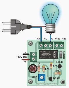 Célula fotoeléctrica muy fácil de hacer con solo 2 transistores que enciende las luces de casa cuando llega la noche. También es barrera fotoeléctrica.