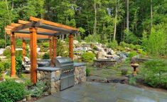 An outdoor kitchen can be an addition to your home and backyard that can completely change your style of living and entertaining. Earlier, barbecues temporarily set up, formed the extent of culinary attempts, but now cooking outdoors has become an. Hot Tub Pergola, Curved Pergola, Pergola Attached To House, Metal Pergola, Pergola With Roof, Cheap Pergola, Backyard Pergola, Pergola Shade, Pergola Plans