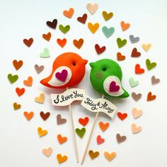 Personalized LOVE BIRDS Pair Custom Color Unique por GiftsDefine