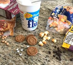 Ingredients for fun holiday cookies. Use whatever's in the house!