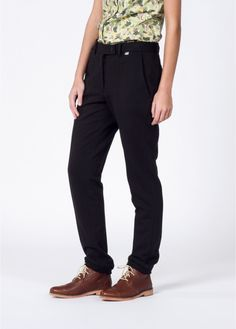 This black cotton trouser has a tailored fit but is constructed in a relaxed fabric. By Kardo X WF. Joggers, Sweatpants, Wedding Crashers, Boyish, Archie, Classic Looks, Boy Fashion, Black Cotton, Black Pants