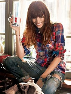 The Best ~ Ripped Jeans, Comfy Shirt, a Smile ~ Sunday Morning Collection at Free People Clothing Boutique
