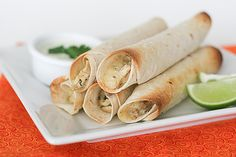 Cookbook of the Month Recipe - Baked Creamy Chicken Taquitos - Taste and Tell