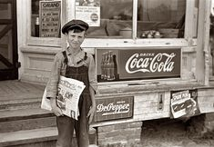 Boy Grit newspaper seller - 1938