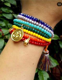Diy Bracelets Easy, Dainty Bracelets, Gemstone Bracelets, Handmade Bracelets, Jewelry Bracelets, Jewelery, Diy Jewelry, Beaded Jewelry, Handmade Jewelry