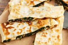 Lamb, silverbeet and feta gozleme No need to wait for market day, enjoy this popular Turkish food at home anytime. Mince Recipes, Lamb Recipes, Snack Recipes, Cooking Recipes, Savoury Recipes, Snacks, Gozleme Recipe, Feta, Coles Recipe