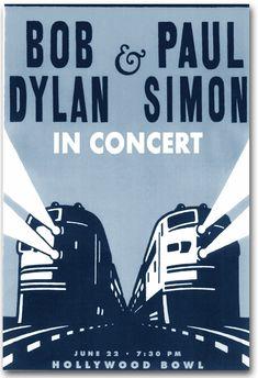 Bob Dylan Paul Simon Poster Concert $9.84 #BobDylan