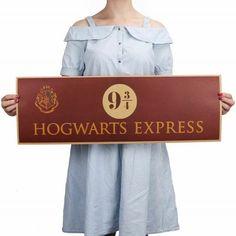 b4ac3e25 Harry Potter 9 3/4 Platform Poster Movie Vintage Paper Decoration Free  Shipping | eBay