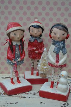 Paperclay Winter Friends Dolls