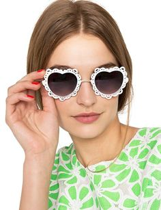 Pixie Market's Sweet Heart Sunglasses Resemble Luxurious Lace #romance trendhunter.com