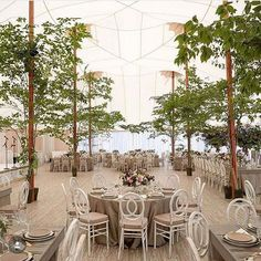Creating custom pieces that are inspired by our clients is one of our favorite parts of the job and this event was no exception! We loved the way the marble and brass designs on the stage surround and the bars so seamlessly integrated additional texture into this reception tent. Planning: @eastonevents  Photography: @christianothstudio Venue: Locusts on the Hudson