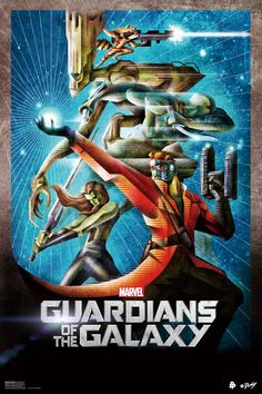 """Kaz Oomori hits us with another amazing Marvel's """"Guardians of the Galaxy"""" fan-made poster."""
