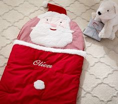 Santa Sleeping Bag | Pottery Barn Kids