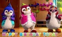 Otro mensaje de feliz cumpleaños muy divertido, te lo vas a pasar genial con este baile tan graciosos de estos tres dibujos.