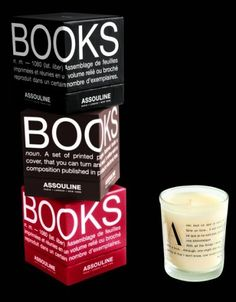 Candles that smell like old books?  LOVE.