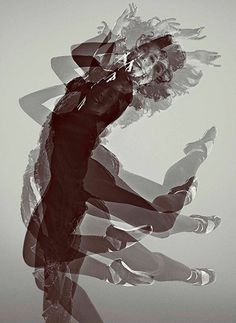 Royal Ballet Dancer Laura Morera caught in multiple exposure Photograph: Rick Guest/ROH