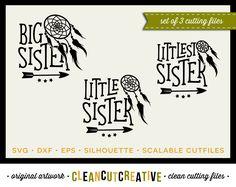 SVG Big Sister Little Sister svg dreamcatcher svg arrow svg SET DISCOUNT 3…