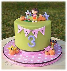 Birthday cake for a Dora the Explorer fan!