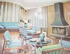mid century home interior drawings