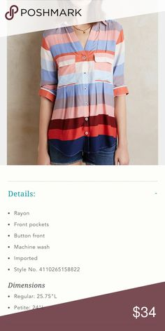 Anthropologie top || size 8 By Maeve, very good condition Anthropologie Tops