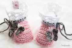 Strick- & Häkelschuhe - ORIGINALE -Babyschuhe mit Namen _011 - ein Designerstück von Strickparadies-Original bei DaWanda