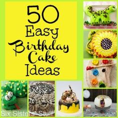 50 Easy Birthday Cake Ideas - six sisters stuff Cupcakes, Cupcake Cookies, Cakepops, Cute Birthday Cakes, Birthday Ideas, 50 Birthday, Homemade Birthday, Birthday Decorations, Decoration Patisserie