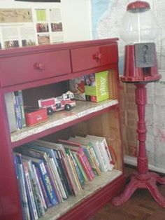 bubsies boutique - baby and kids boutique clothing in Orange County, CA: Recycled Old Dresser turned Book Shelf!