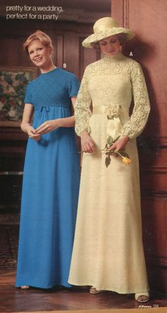Gaze Into The Polyester Soul Of The U002770s, Via The Fall/Winter 1977 JC Penney  Catalog. 1970 Dresses1970s Wedding70s ...