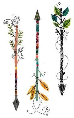 artsy arrows - would be pretty tattoos