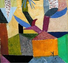 1910 Paul Klee 'Das auserwählte Haus' (The Chosen House) - like a detail of the 1917 painting, Himmelsblüten über dem gelben Haus.