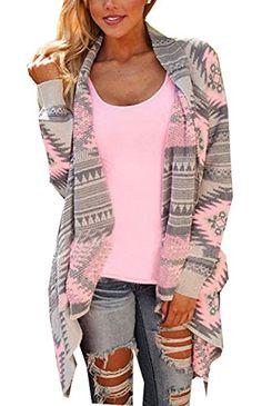 Damen Strickjacke Cardigan Langarmshirt Geometrische Irregular Lose Pullover Mantel Outwear Tops ( Rosa DE 36 ) http://www.damenfashion.net/shop/damen-strickjacke-cardigan-langarmshirt-geometrische-irregular-lose-pullover-mantel-outwear-tops-rosa-de-36/