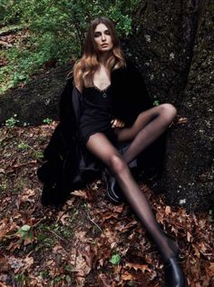 EDITORIAL: Andreea Diaconu in Vogue Paris September 2016 by Lachlan Bailey - Maîtresse Charme - Photography: Lachlan Bailey, Model: Andreea Diaconu, Styling: Geraldine Saglio, Hair: Damien Boissinot, Make-Up: Sally Branka. Forest Fashion, Dark Fashion, Gothic Fashion, Love Fashion, Fashion Models, Fashion Tips, Fashion 2018, Fashion Shoot, Ladies Fashion