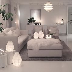 Do It Yourself Lamps Living Room Designs Home Decor Ideas Cozy Living Rooms, Home Living Room, Living Room Designs, Living Room Furniture, Living Room Decor, Living Spaces, White Furniture, Deco Design, Design Room