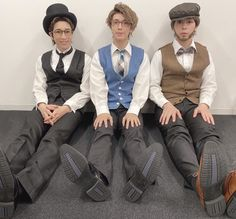 Stage Play, Identity Art, Suit Jacket, One Piece, Cosplay, Poses, Guys, Aesop, Sora