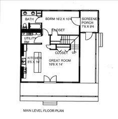 First Floor Plan of House Plan 85842
