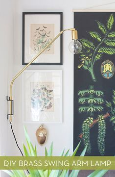 Modern DIY Brass Swing Arm Lamp