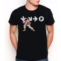 New RYU Street Fighter 4 Custom Black T-Shirt Tee All Size XS-XXL