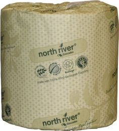 North River bath tissue, 2 ply, 80 rolls/CS. Made with 100% Green-e® wind-generated electricity.  #gscertified #green #sustainable