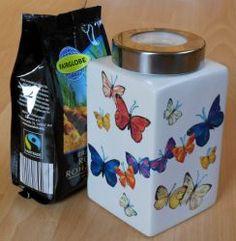 wunderschoen-farbenfrohe-Keramik-Vorratsdose-Schmetterlinge