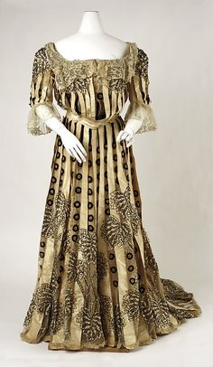 Dress  Date: 1902–4 Culture: American Medium: silk.  Credit Line: Purchase, Irene Lewisohn Bequest, 1973!!!