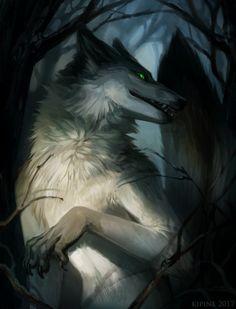 Devious Fox by Kipine Fantasy Wolf, Fantasy Art, Magical Creatures, Fantasy Creatures, Anubis, Shadow Wolf, Demon Wolf, Episode Interactive Backgrounds, Werewolf Art