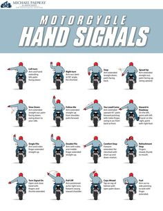 Motorcycle Hand Signals Chart #Infographics — Lightscap3s.com:
